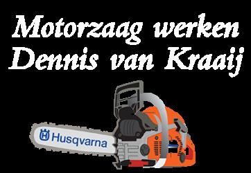 Motorzaag werken Dennis van Kraaij Blaricum